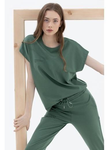 Sementa Oversize Kısa Kollu Tshirt - Yeşil Yeşil
